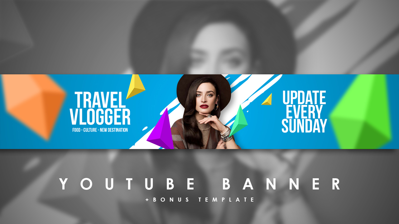 Free Download Youtube Chanel Art Youtube Banner Photoshop Project Psd File