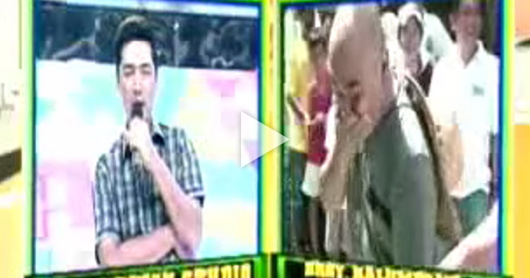 Wally Bayola accidentally said something off-mic but still heard on live television