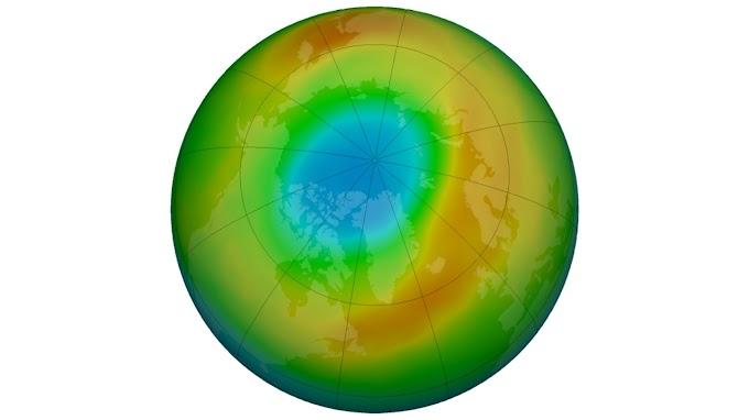 उत्तरी ध्रुव में बना ओजोन परत में अब-तक का सबसे बड़ा छेद - NASA ने ली तस्वीर