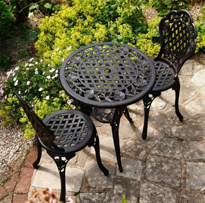 Lazy Susan Cast Aluminum Bistro Sets