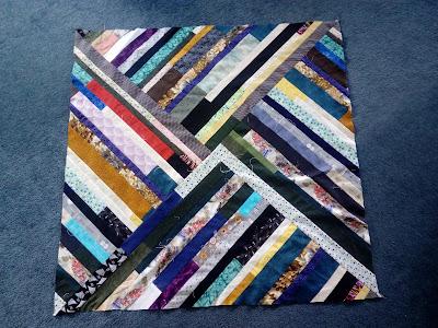 never ending strip quilt