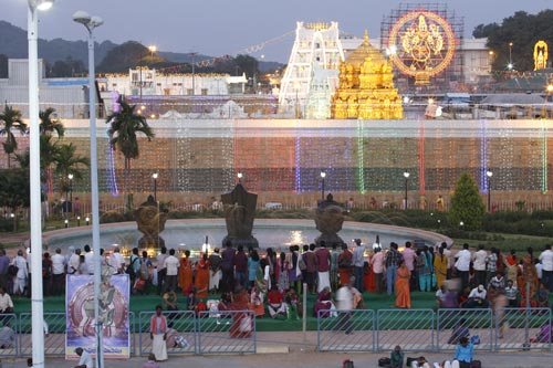 View of Tirupati Balaji Temple