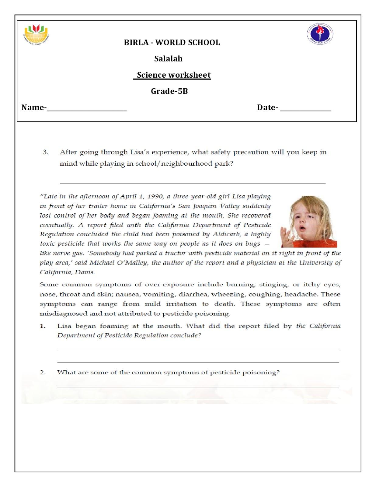 Birla World School Oman Homework For Grade 5 B On 10 11 16