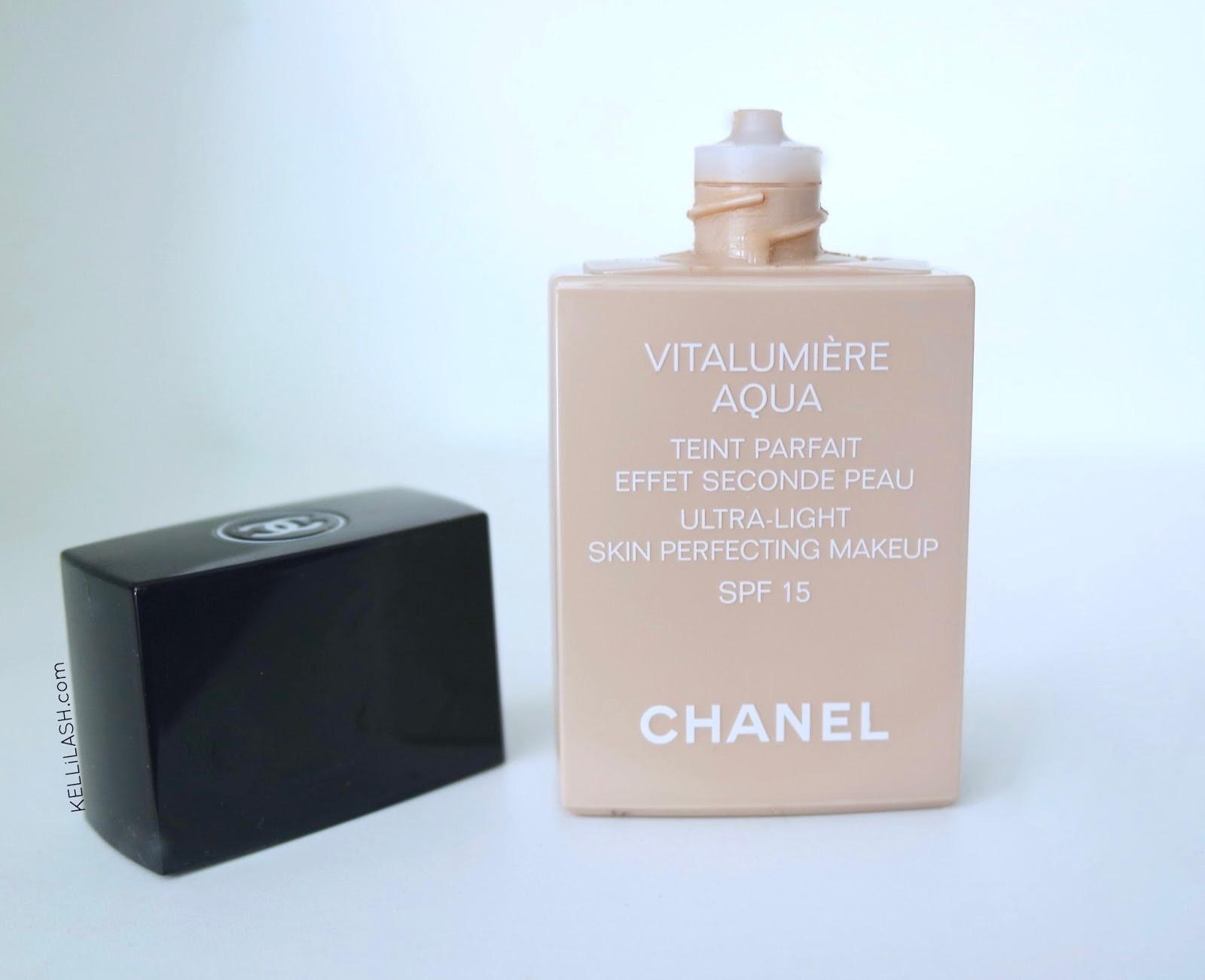 Foundation My Top 5 Favourites Kellilash Chanel Vitalumire Aqua Ultra Light Skin Perfecting Makeup Spf 15 Vitalumiere B20 Beige