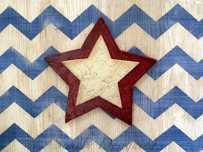 chevron06 Star & Chevron Stripe Patriotic Sign {4th of July decor} 28