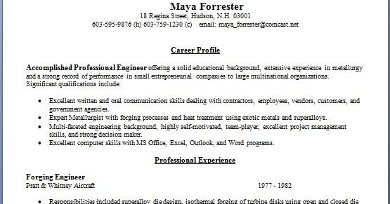 forging engineer sample resume format in word free download