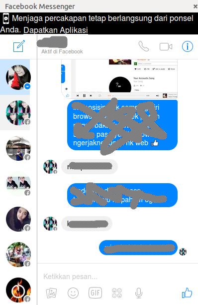 cara menginstall facebook mesengger di linux