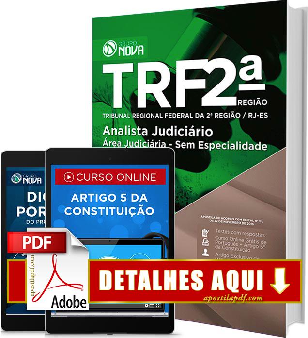 Apostila TRF 2 Região 2016 PDF Impressa Analista Judiciário Área Judiciária