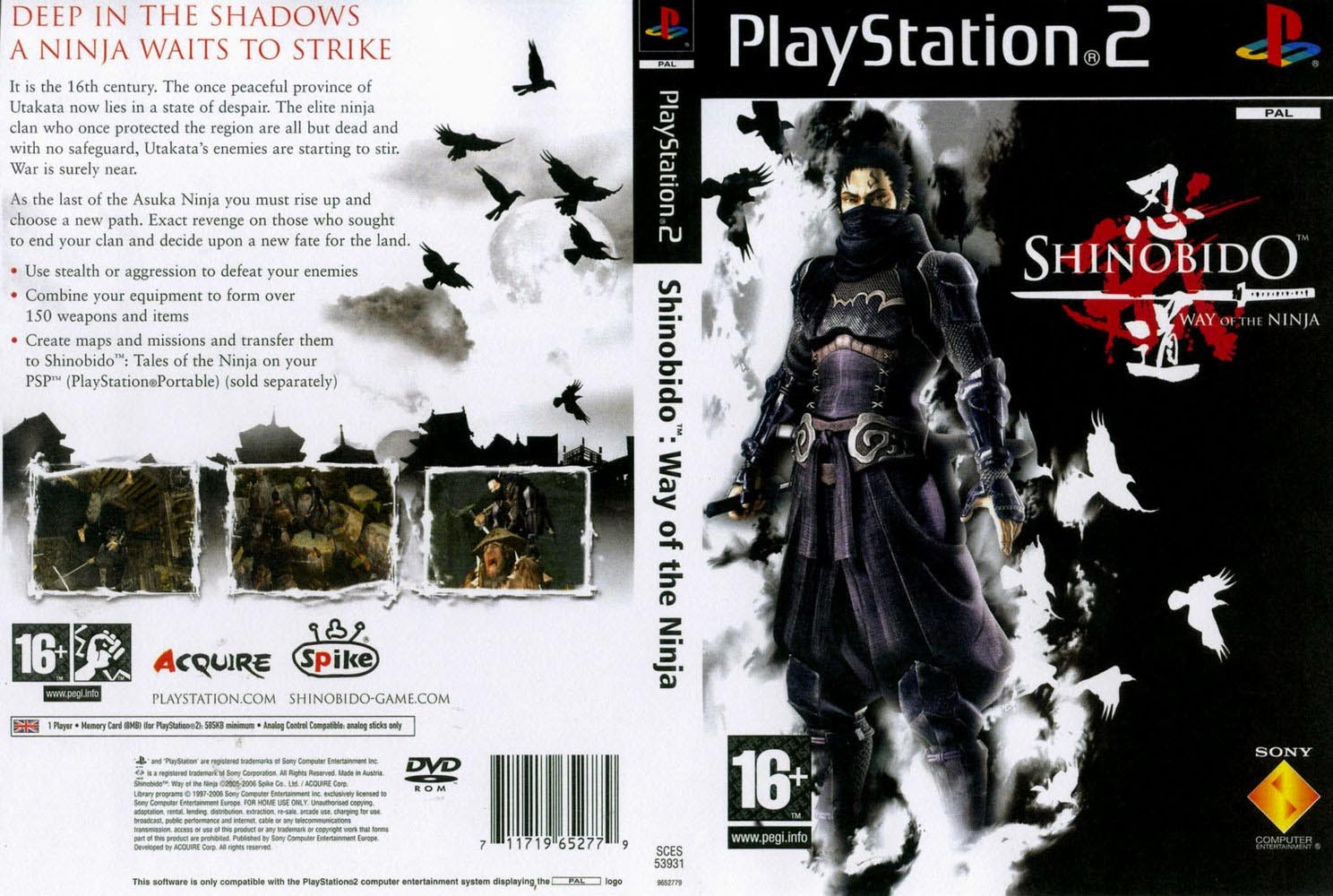 Shinobido way Of The ninja ps2 iso ita