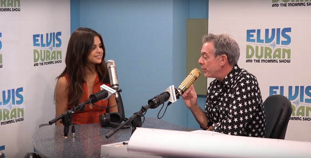 Still from the Interview of Selena Gomez in Elvis Duran and The Morning Show