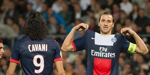 Ở PSG, Cavani không cạnh tranh nổi vị trí trung phong của Ibrahimovic