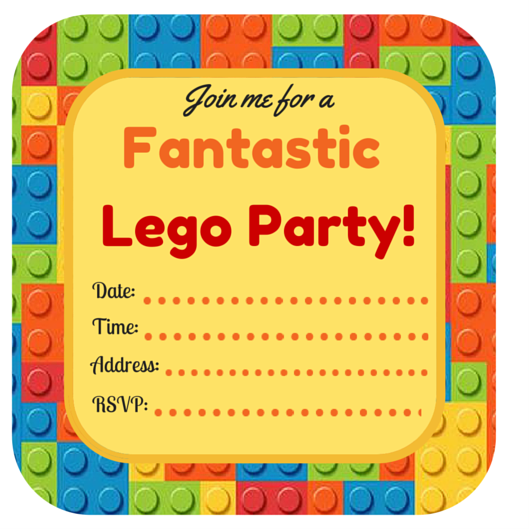 It is a photo of Free Printable Lego Birthday Invitations with themed