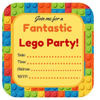 lego party printables, free printables, lego birthday invitations