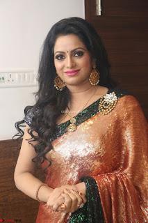 Udaya Bhanu lookssizzling in a Saree Choli at Gautam Nanda music launchi ~ Exclusive Celebrities Galleries 064.JPG