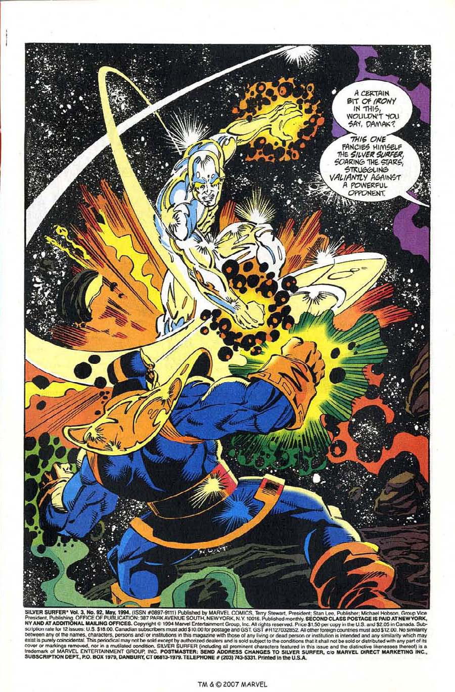 Read online Silver Surfer (1987) comic -  Issue #92 - 3