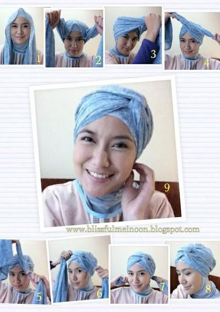 Tutorial Hijab Turban Pashmina Modern Gaya #11 Simple is Better