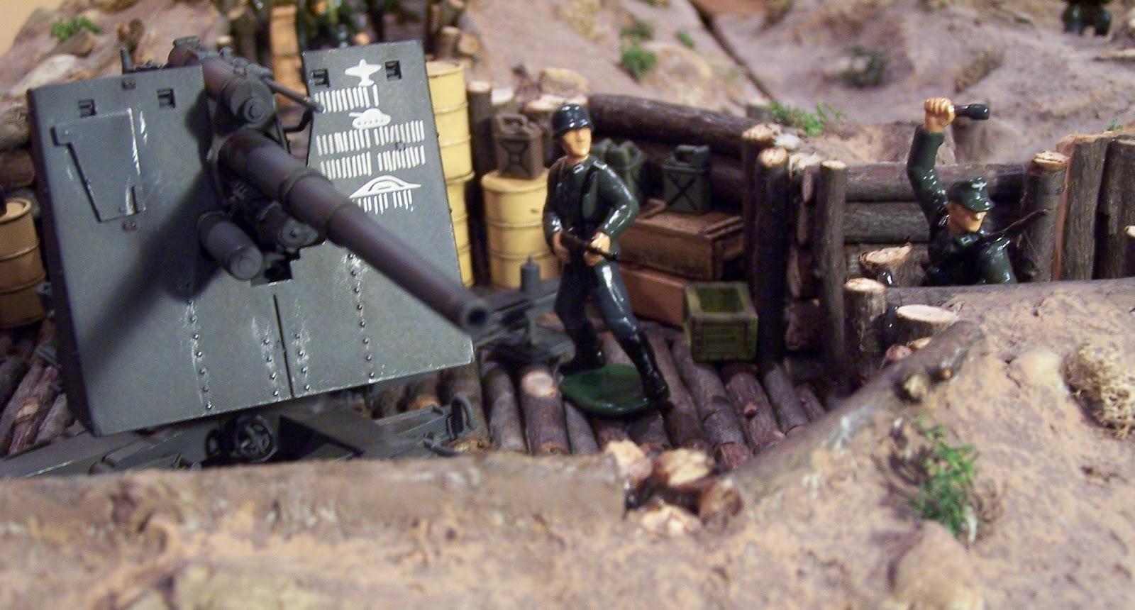 German 50 Mm Anti Tank Gun: WWII Plastic Toy Soldiers: Introducing The 8.8 Cm Flak 36/37