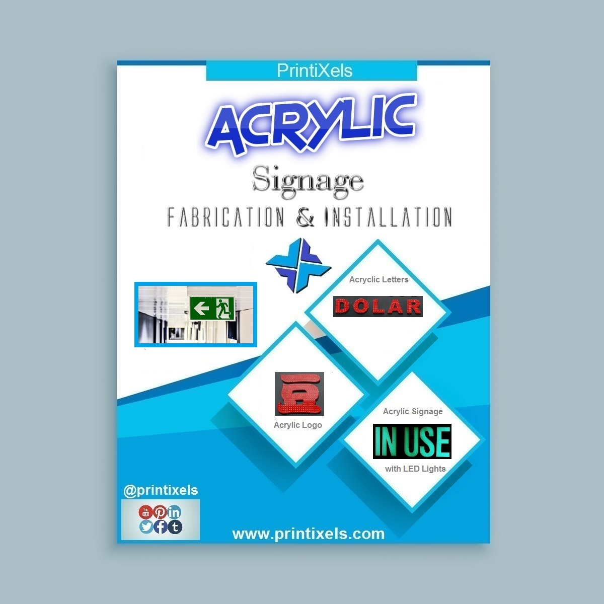 Acrylic Signage Fabrication & Installation