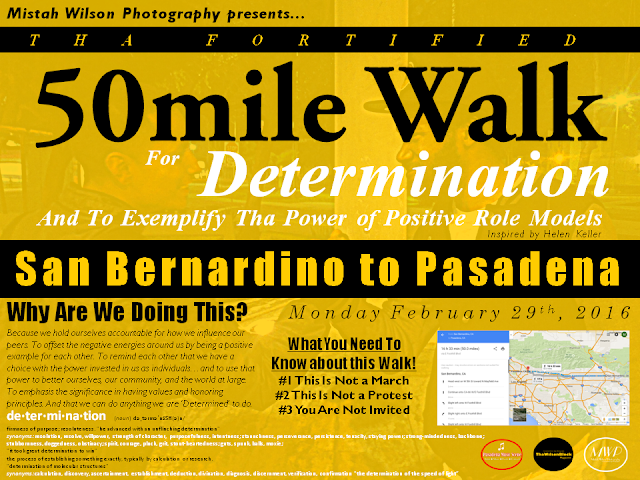 Bing Bing announces Tha Fortified 50mile Walk for Determination!!!