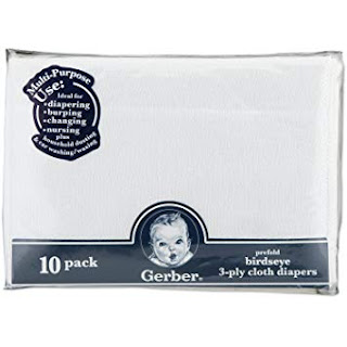 Gerber 3 ply cotton diapers