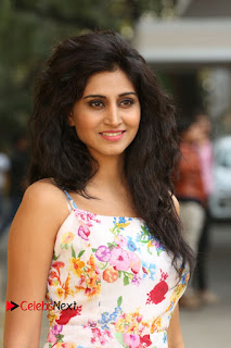 Actress Shamili Stills in Floral Short Dress at Sree Ramaraksha Song Launch 0038
