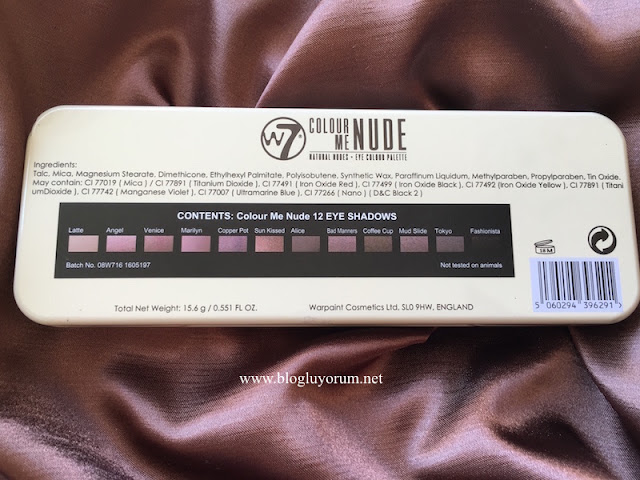 w7 in the nude colour me nude palette