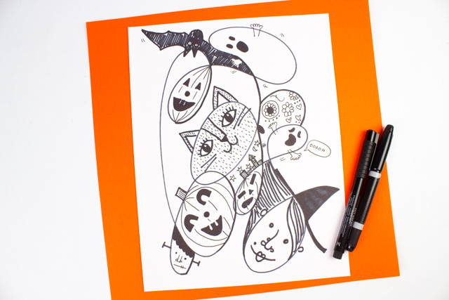 What can you see in your doodles?  Try out this fun Halloween Doodle Art Challenge today!