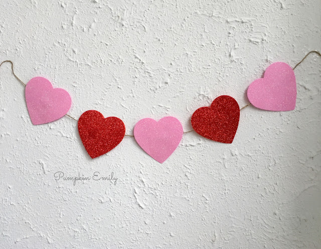 Dollar Tree DIY Heart Banner