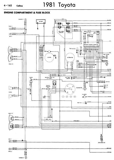 81 celica radio wiring diagram repair-manuals: toyota celica 1981 wiring diagrams 2000 celica radio wiring diagram #2
