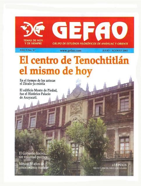 EL CENTRO DE TENOCHTITLAN EL MISMO DE HOY, Revista GEFAO