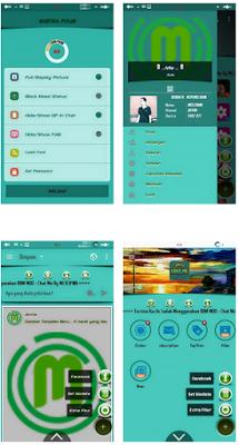BBM Mod Chat Me v3.0.1.25 APK Slow Green Terbaru