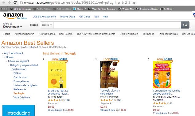 Libros más vendidos en Amazon en Teología