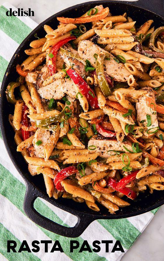 The Best Rasta Pasta #Thebestrasta #Rasta #Pasta #Italianfood #Bestitalianfood #Healthyfood #Dinnerrecipe #Simplydinner
