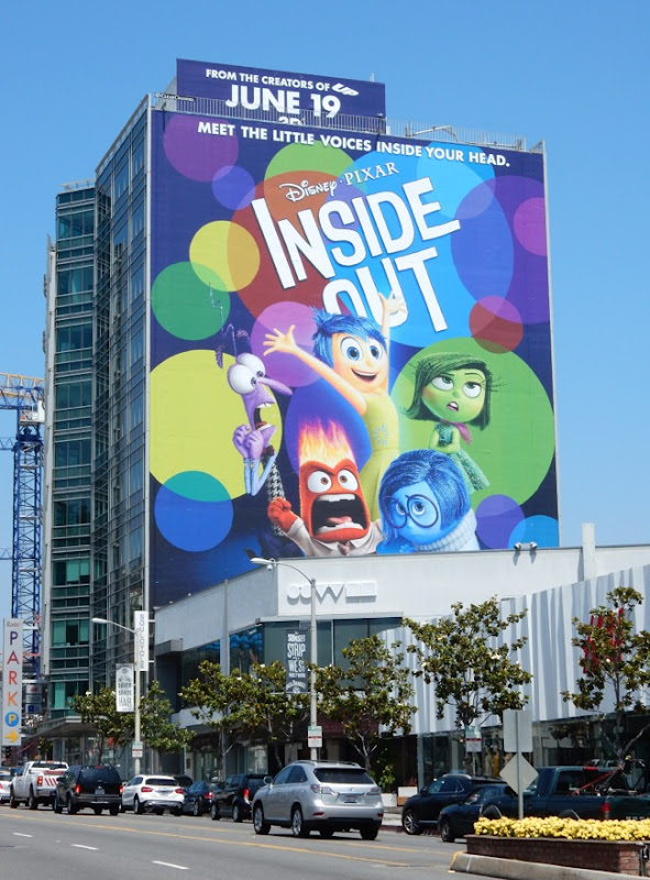 Giant Disney Pixar Inside Out movie billboard