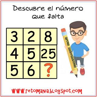 Descubre el número, El número que falta,¿Cuál es el número que falta?