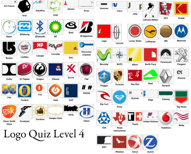 logo quiz answers level 4 type logos