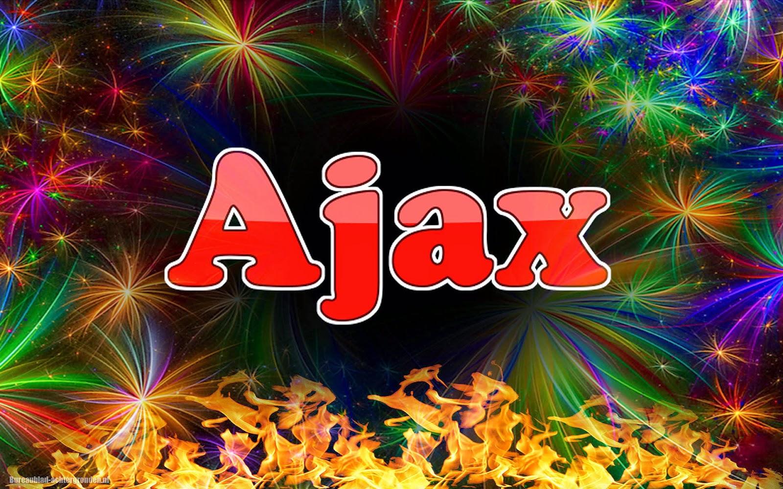 Unieke Ajax wallpaper met tekst