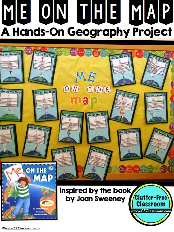 Me On The Map Activities And Printables Clutter Free Classroom