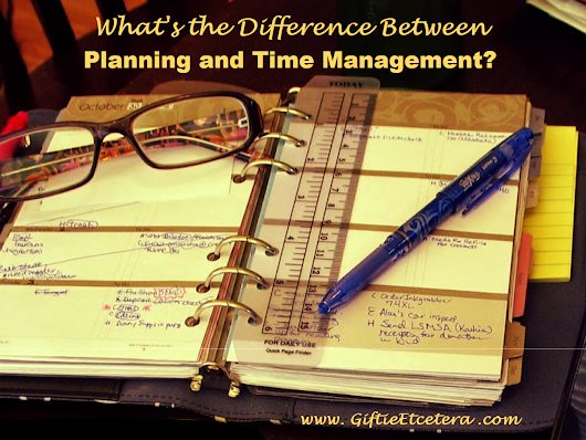 The Difference Between a Planner and Time Management