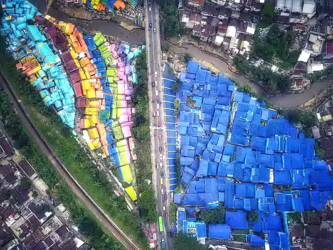Xvlor Colorful town of Jodipan, Kesatrian and Embong Brantas in Malang City