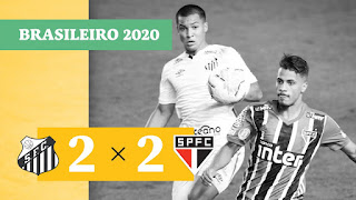 Gols – Santos 2 x 2 São Paulo – Athletico 1 x 0 Coritiba