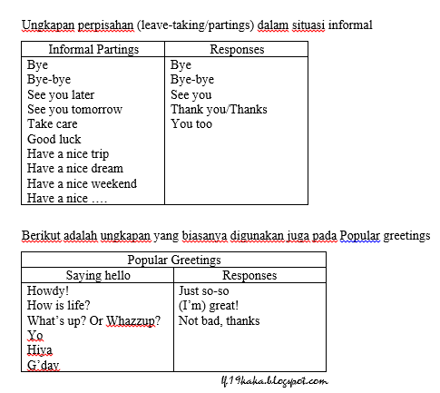 Kaka S Blog Greetings Sambutan Salam