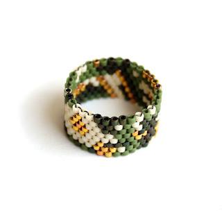 купить красивые эксклюзивные кольца бижутерия из бисера интернет магазин