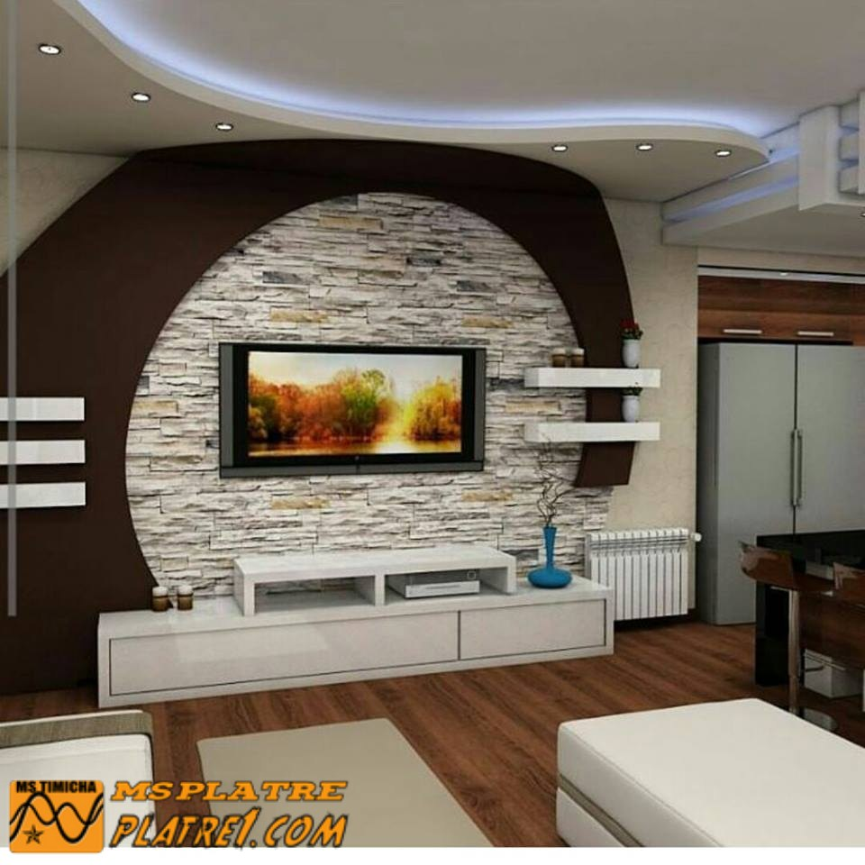 Deco Tv Plasma Decoration Platre Plafond