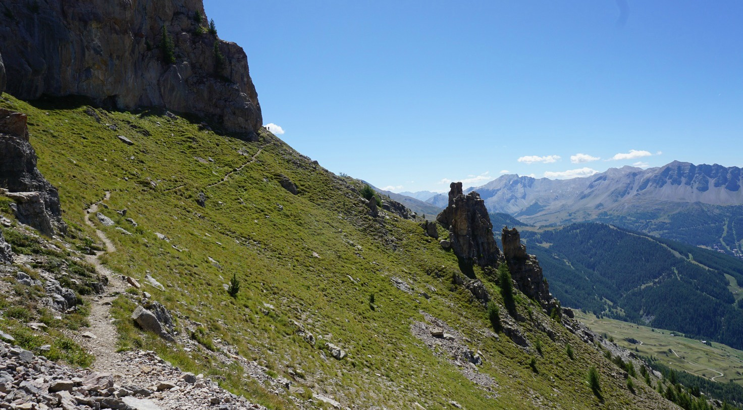 Mid-section of trail on Crête de Vars