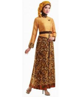 Model baju batik muslim untuk pesta yang modis