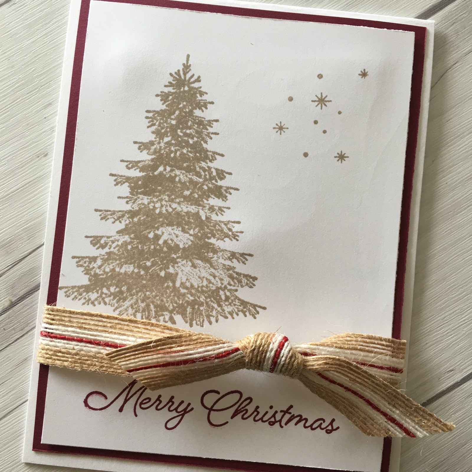 Stamped Sophisticates: Quick Christmas Card using Stampin\' Up ...