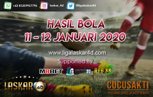 HASIL BOLA JITU TANGGAL 11 – 12 JANUARI 2020