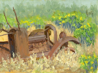 painting car abandoned rust antique automotive