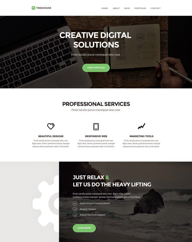 Treehouse - Website PSD Template